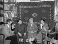 Emil Vidović, Aleksandar Schulteis i Vinko Lisjak u posjeti Milani Slavenski u Beogradu 1966. godine