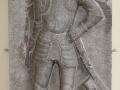 Nadgrobna ploča viteza Nikole Malakocija u atriju Starog grada u Čakovcu