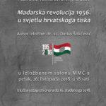 Izložba: Mađarska revolucija 1956. u svjetlu hrvatskoga tiska